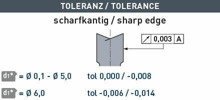 Karnasch VHM-Micro frees HSC/HPC Ø0,3/L3= 3,0mm/ NHC-7000 coating Art: 3062020030030