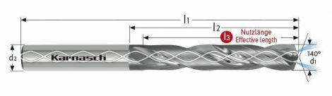 Karnasch VHM-Boor met binnenkoeling, cilindrische opname, 5xD, voor TITANIUM