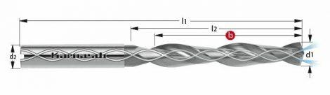 Karnasch VHM-boor met binnenkoeling, cilindrische opname, 5xD, DCC 0312-diamantcoating, voor Composites