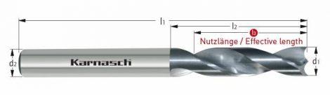 Karnasch GFK/CFK VHM-boor cilindrische opname, gepolijst
