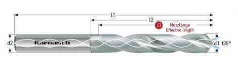 Karnasch VHM-Boor CNC met binnenkoeling, cilindrische opname, voor CFK/Titanium