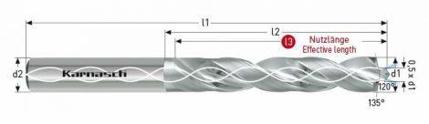 Karnasch VHM-Boor ROBO met binnenkoeling, cilindrische opname, voor CFK/ALU
