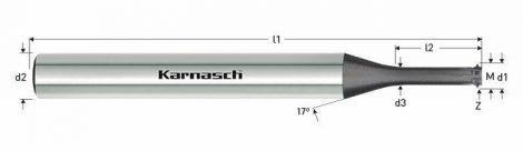 Karnasch VHM-Micro draadfrees LogTop steel, metrisch, voor binnendraad, Nano Spin coating voor staal