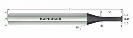 Karnasch VHM-Micro draadfrees Log-Top diamond, metrisch, voor binnendraad, DCC-G coating voor composites