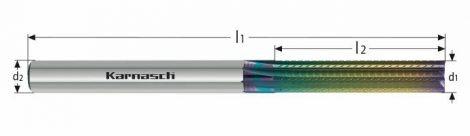 Karnasch VHM ruw- en nafrees, 8-snijder, rechte vertanding, NHC-7000 coating
