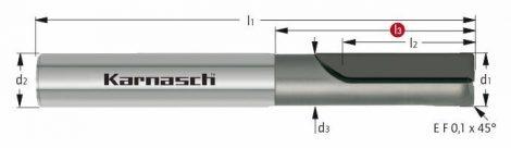 Karnasch CVD-frees met hoekfase, 2-snijder, voor composites BESTSELLER