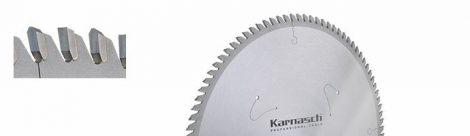 Karnasch HM cirkelzaagblad, positief/dunne snede Aluminium, Kunststof, kozijnprofielen