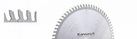 Karnasch HM cirkelzaagblad voor platen deling, holle tand, Hohlzahn - Trapez positiv