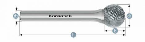Karnasch HM freesstift ongecoat Type KUD/HP-3 BESTSELLER