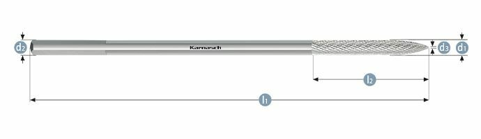 Karnasch freesstift bandreparatie 10,0x75x10x250 HP-3 Art: 114075100