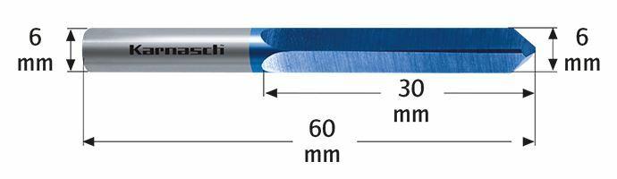 Karnasch VHM-Boorfrees voor sleuteldienst BLUE-TEC gecoat Art: 114701