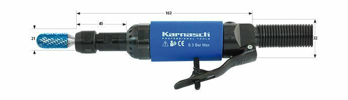 Karnasch Profi-Luchtdrukslijper type: K25/2 voor freesstiften met opname Ø6,0mm Art: 114704 BESTSELLER