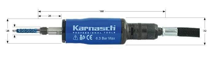 Karnasch Profi-Luchtdrukslijper type: KA1000 voor freesstiften met opname Ø3,0mm Art: 114705 BESTSELLER