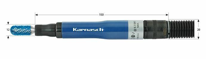 Karnasch Profi-Luchtdrukslijper type: KA60R voor freesstiften met opname Ø3,0mm Art: 114706 BESTSELLER