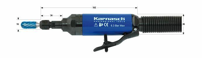 Karnasch Profi-Luchtdrukslijper type: KA37LR voor freesstiften met opname Ø6,0mm BESTSELLER Art: 114708