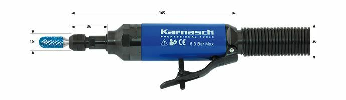 Karnasch Profi-Luchtdrukslijper type: KA30LR voor freesstiften met opname Ø6,0mm Art: 114709 BESTSELLER