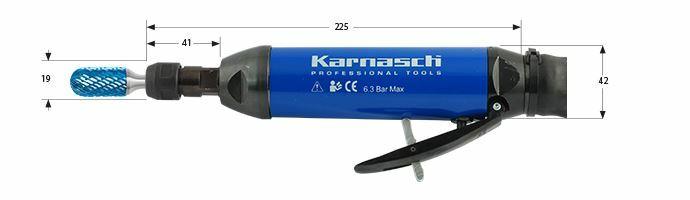 Karnasch Profi-Luchtdrukslijper type: KAM25LR voor freesstiften met opname Ø6,0mm BESTSELLER Art: 114711