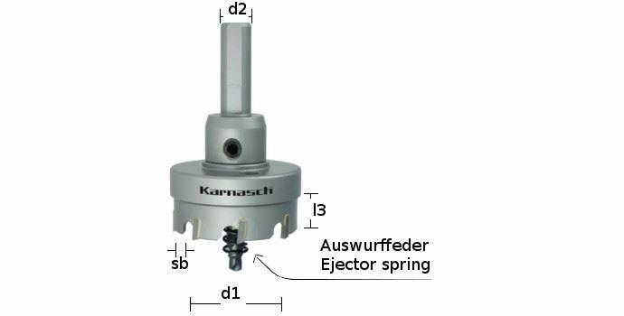 Karnasch BESTSELLER HM gatenzaag Easy-Cut 5, snedediepte 12mm met opname, centreerboor en uitwerpveer;