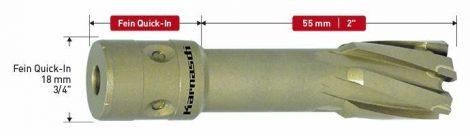 Karnasch HM kernboor Hard-Line 55, snijdiepte 55mm, Fein Quick-In