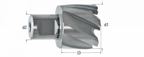 Karnasch HSS-XE staal kernboor/gatenzaag combinatie Mini-Line 8, snijdiepte 8mm, opname 12,7mm