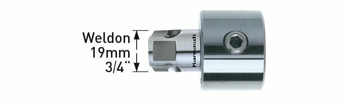 Karnasch Adapter Weldon universeel 19mm 3/4