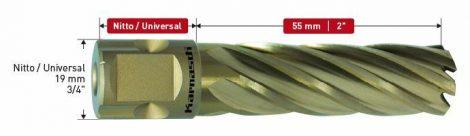 Karnasch HSS-XE kernboor Gold-Line55, snijdiepte 55mm, Nitto/Uni-opname