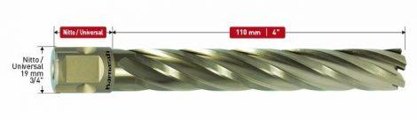 Karnasch HSS-XE kernboor Gold-Line110, snijdiepte 110mm, Nitto/Uni-opname 19mm