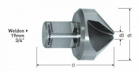 Karnasch HSS-XE verzinker 90°, Weldonopname 19mm