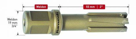 Karnasch HM kernboor Rail-Line55, snijdiepte 55mm, Weldonopname 19mm