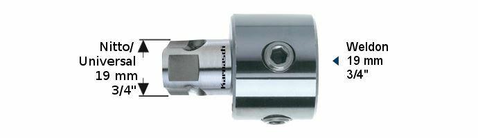 Karnasch Adapter Uni op Weldon boring 6,34mm Art: 201311
