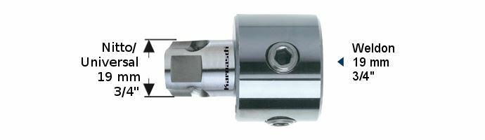 Karnasch Adapter Uni Weldon boring 7,98mm Art: 201314