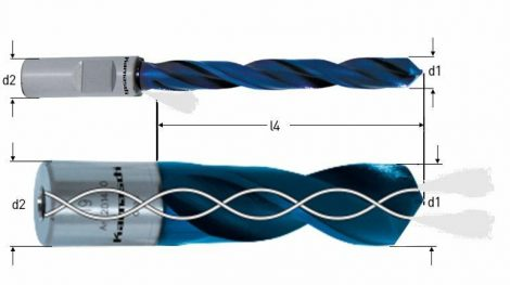 Karnasch PM spiraalboor Drill-Line30 PRO, snijdiepte 30mm, , Weldonopname 19mm, DURABLUE-gecoat