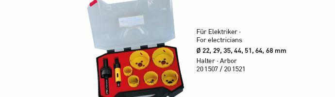 Karnasch BESTSELLER Bi-Metall gatenzagen Koffer 22,29,35,44,51,64,68mm Art: 201501