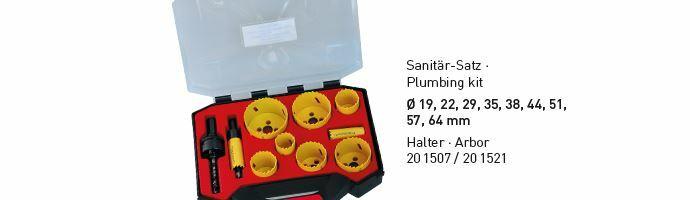 Karnasch BESTSELLER Bi-Metall gatenzagen Koffer 19,22,29,35,38,44,51,57,64mm Art: 201502