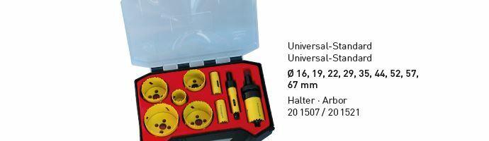 Karnasch BESTSELLER Bi-Metall gatenzagen Koffer 16,19,22,29,35,44,52,57,67mm Art: 201504