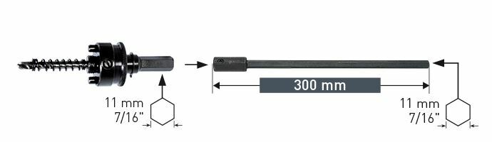 Karnasch verlenging 11,0mm 7/16