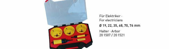 Karnasch BESTSELLER Bi-Metall gatenzagen Koffer 19,22,35,68,70,76mm Art: 201513