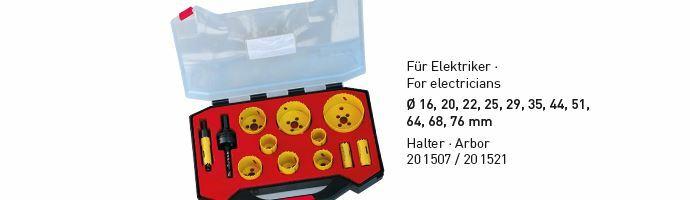 Karnasch BESTSELLER Bi-Metall gatenzagen Koffer 16,20,22,25,29,35,44,51,64,68,76 mm Art: 201514
