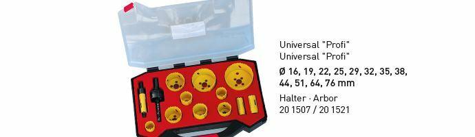 Karnasch BESTSELLER Bi-Metall gatenzagen Koffer 16,19,22,25,29,32,35,38,44,51,64,76mm Art: 201519