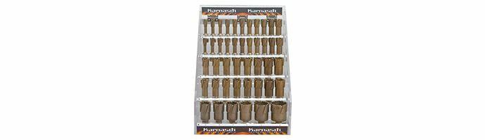 Karnasch afsluitbare Acryl-Display, Hard-Line40 44 HM kernboor: snijdiepte 40mm, Nitto/Uni-opname 19mm, elk 4 Stk Ø1/2