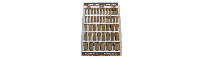 Karnasch afsluitbare Acryl-Display, Hard-Line55 44 HM kernboor: snijdiepte 55mm, Nitto/Uni-opname 19mm, elk 4 Stk Ø1/2