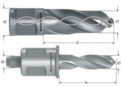 Karnasch HSS-XE spiraalboor Drill-Line 30, snijdiepte 30 mm, Weldonopname 19 mm