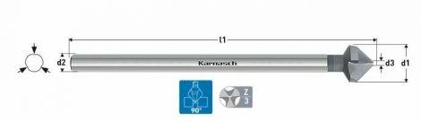 Karnasch HSS-XE verzinker 90°, extra lange 3-vlaksopname