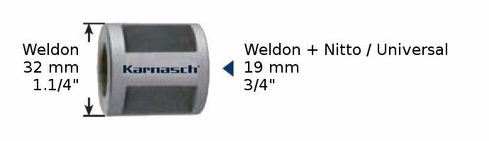 Karnasch Adapter Weldon 32mm op 19mm Art: 210048