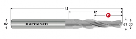 Karnasch HSS-XE korte trappenboor DIN 1897, 90° voor Kernboor-verzinking