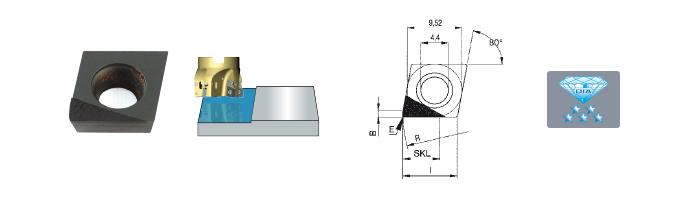Karnasch Vlak-wisselplaat CVD CXHW 09 T3 PD FR 5 Art: 296610