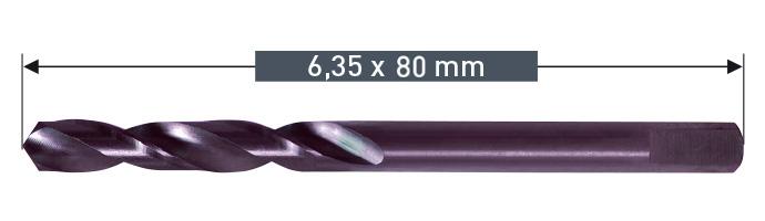Karnasch centreerboor 6,35x80mm voor opnamehouder Art: 20 1169 Art: 201173
