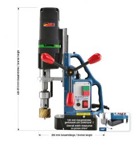 Karnasch magneetboormachine KAS50 SENSOR 230 Volt Europa versie BESTSELLER