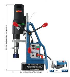 Karnasch magneetboormachine KATSV100 SENSOR 230 Volt Europa versie BESTSELLER