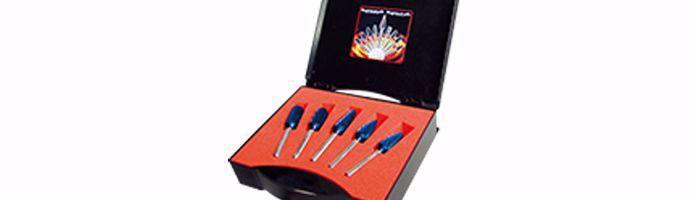 Karnasch freesstiftenset BLUE-TEC-gecoat 5 stuks Ø12mm DINNORM BESTSELLER Art: 114907